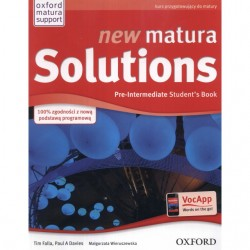 new matura Solutions Pre–Intermediate Students' Book