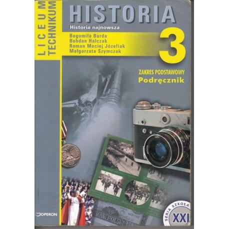 Historia 3. Historia najnowsza. Zakres podstawowy. Podręcznik dla liceum ogólnokształcącego, liceum profilowanego i tec
